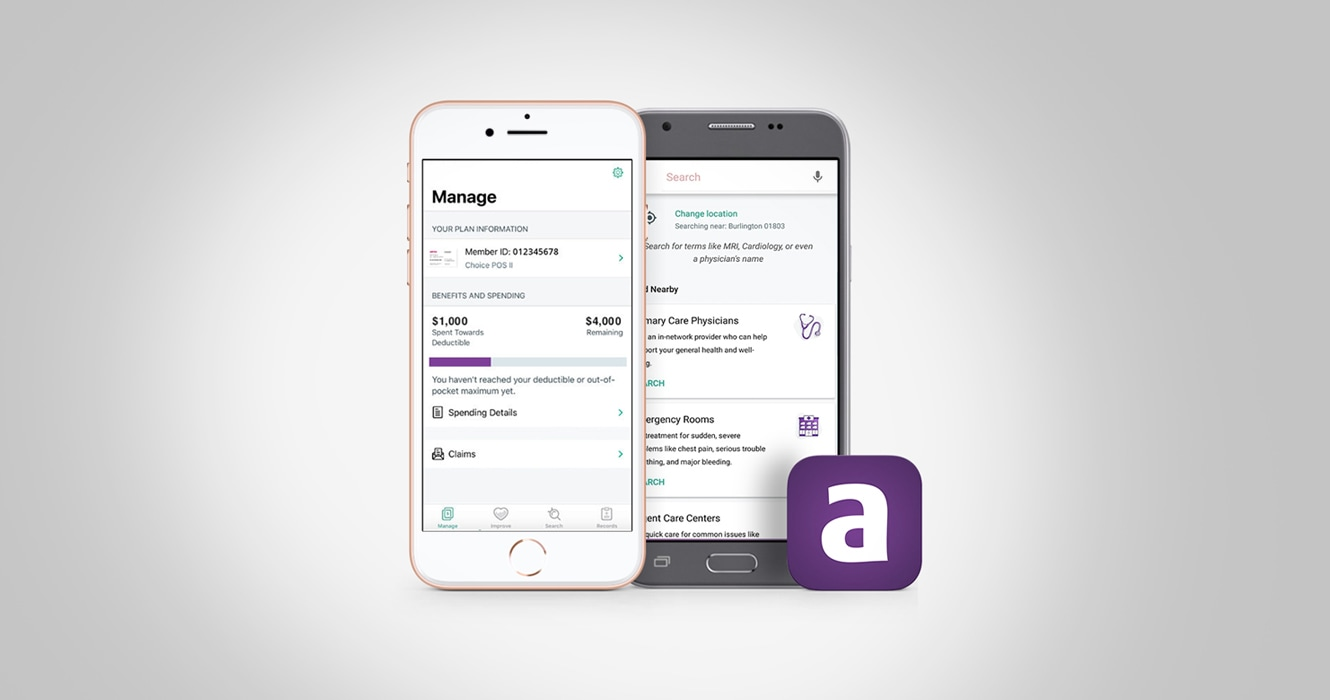 Screenshot of Aetna Health App
